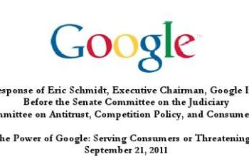 Siri may pose 'competitive threat' to Google, Eric Schmidt tells Senate subcommittee