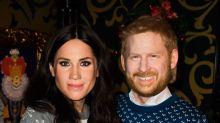 Museu de cera coloca casal com máscaras bizarras de Meghan e Príncipe Harry