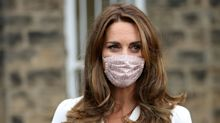 The Duchess of Cambridge is seen in a face mask for the first time