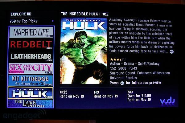 VUDU first on-demand service to sell HD and HDX movies