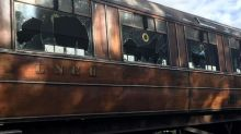 'Heartbreak' as Downton Abbey heritage train destroyed by vandals