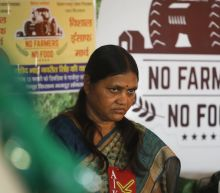 Female farmers protest against new Indian agriculture laws