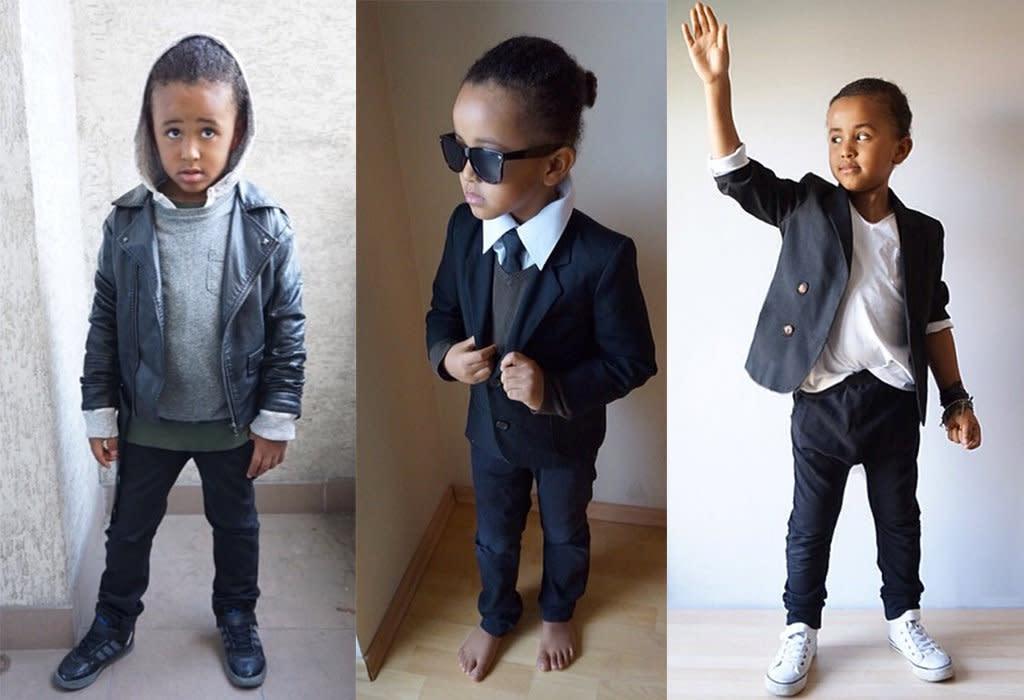fashion victime ce petit gar on de 5 ans s 39 habille comme les people photos. Black Bedroom Furniture Sets. Home Design Ideas