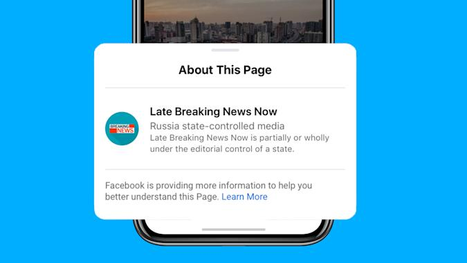 Facebook's state-controlled media label