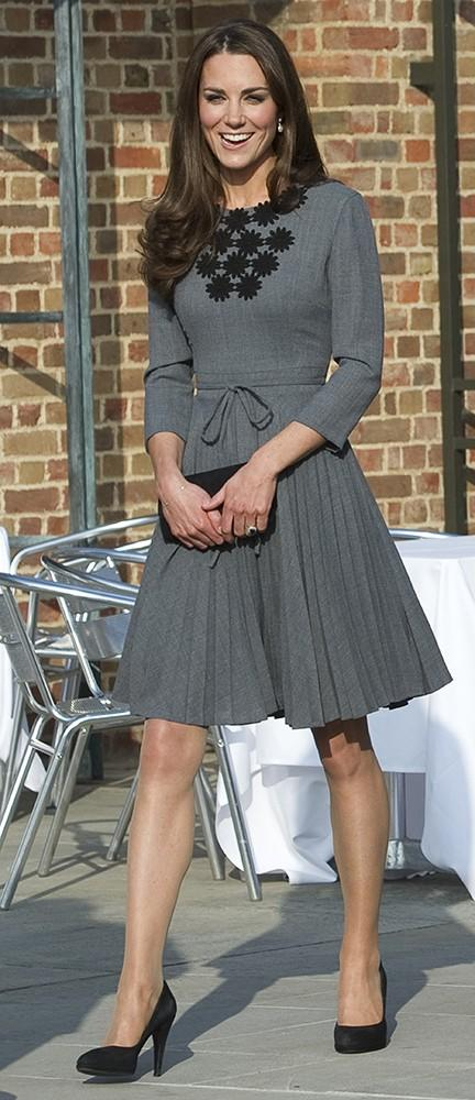 Kate wore an Orla Kiely dress for a visit in South London.
