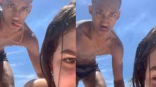 """Mel Maia curte praia com namorado: """"Será que vamos suportar a saudade"""""""