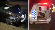 P-plater crashed into parked cars while driving naked