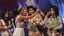 Mrs. World says she's 'ready to hand over the crown' after being arrested for snatching tiara off Mrs. Sri Lanka during beauty pageant