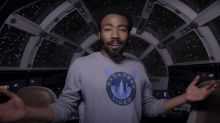 Donald Glover reveals a 'Millennium Falcon' that 'Star Wars' fans have never seen (dig that cape armoire)
