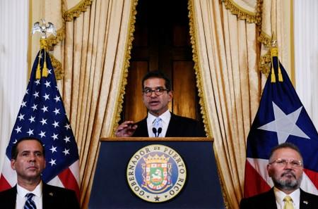FILE PHOTO: Pedro Pierluisi holds a news conference after swearing in as Governor of Puerto Rico in San Juan, Puerto Rico