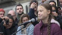 Greta Thunberg addresses climate march in Switzerland