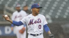 Mets P Marcus Stroman upset game started with heavy rain, was delayed almost instantly