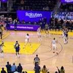 Stephen Curry with a deep 3 vs the Utah Jazz