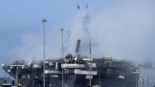 Firefighters put out flames aboard U.S. Navy ship in San Diego; vessel's future unknown