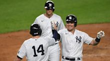 Yankees outscore NFL's Giants and Jets after hanging 20 runs on Blue Jays