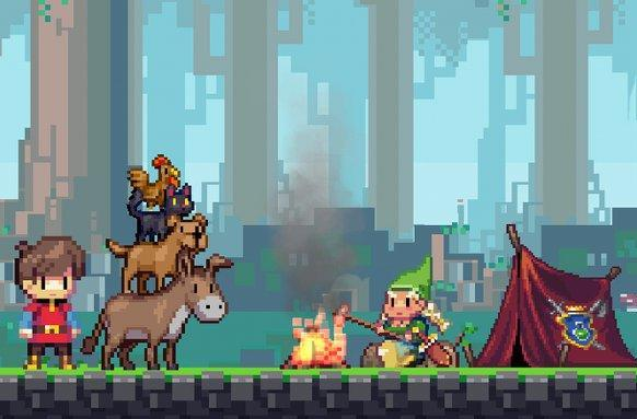 Adventures of Pip takes you from single pixel to dashing hero