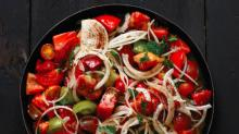 Tomato and Sweet Onion Salad from'Rose Water and Orange Blossoms'