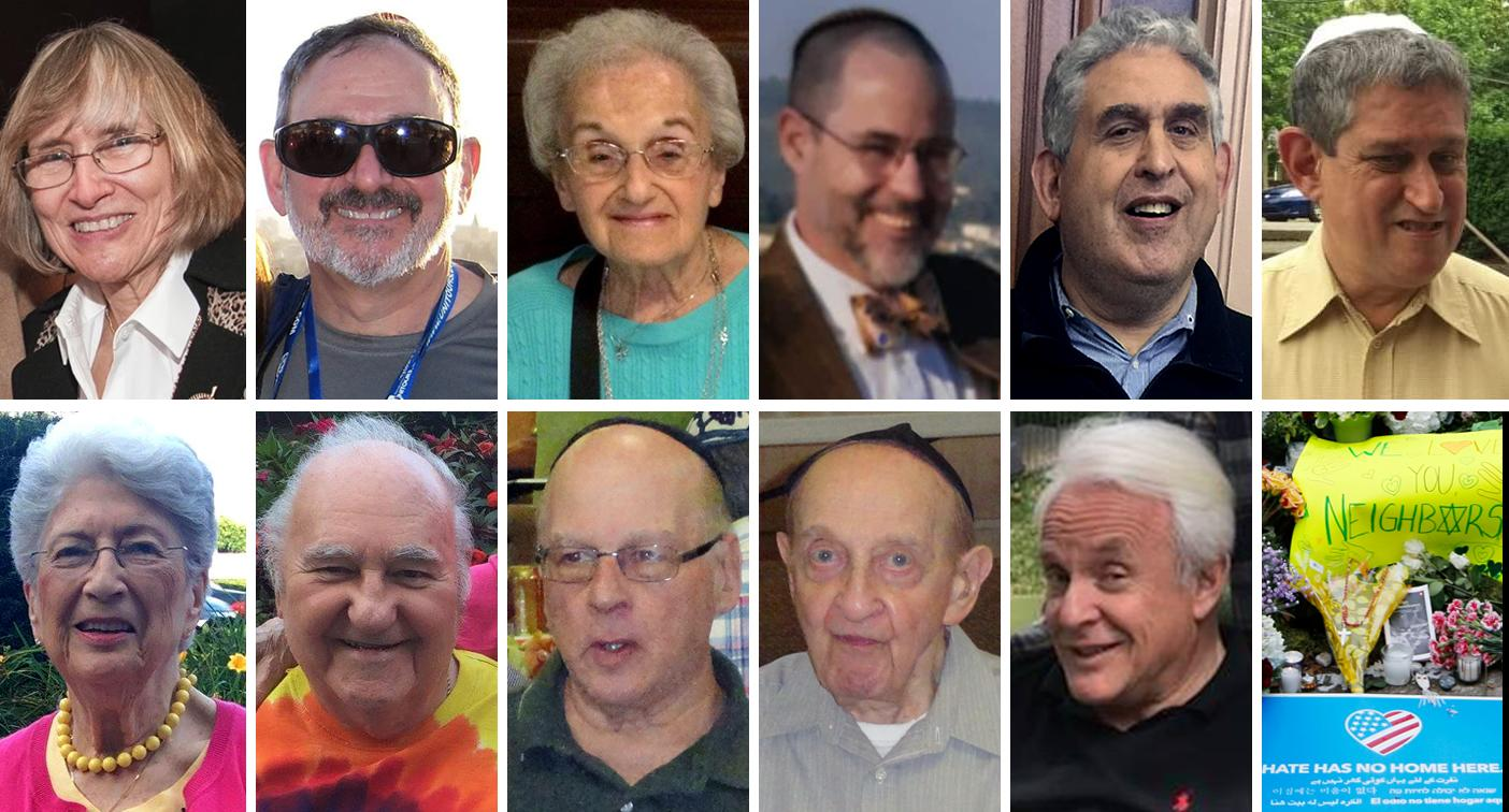 <p>Joyce Fienberg, Richard Gottfried, Rose Mallinger, Jerry Rabinowitz, Cecil Rosenthal, David Rosenthal, Bernice Simon, Sylvan Simon, Daniel Stein, Melvin Wax, Irving Younger. (Photo, top row, from left: CMU via Youtube, Facebook, Mallinger family/UPMC via AP, Facebook, David DeFelice via AP, Twitter. Bottom row: Facebook (2), Barry Werber via AP (2), Facebook, Cathal McNaughton/Reuters) </p>