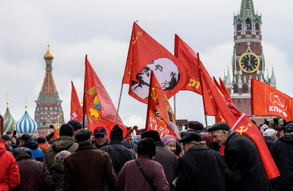 Russian Communist supporters have already held rallies in Red Square in Moscow to celebrate the 100th anniversary of the Bolshevik Revolution