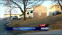 Custody hearing held for teen found handcuffed