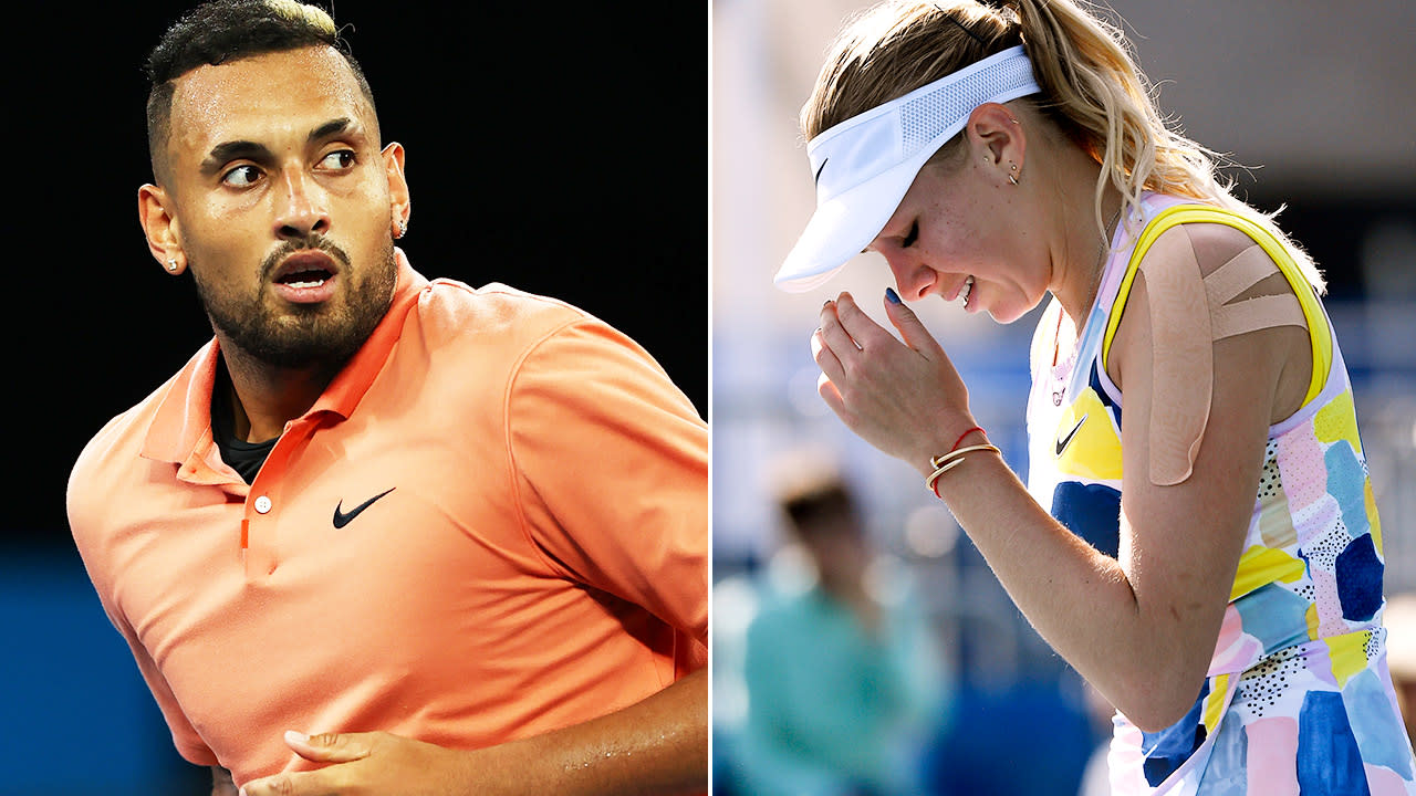 'She's amazing': Nick Kyrgios' touching act for devastated Australian Open teenager