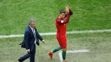 Soccer - Portugal's Santos and Ronaldo criticise St Petersburg pitch