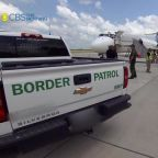 Close look at Border Patrol planes flying migrants from the southern border