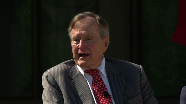 George H.W. Bush speaks at son's presidential library dedication