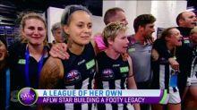 AFLW star building a footy legacy