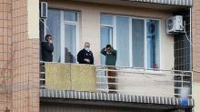With selfie, Ukrainian health minister joins coronavirus evacuees in quarantine
