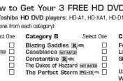 Buy a Toshiba HD DVD player - get three free HD DVDs