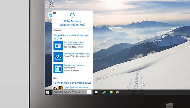 Microsoft's Cortana virtual assistant is coming to the PC with Windows 10