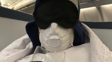Sebastian Stan called the 'CEO of staying safe' for extreme coronavirus precaution on flight