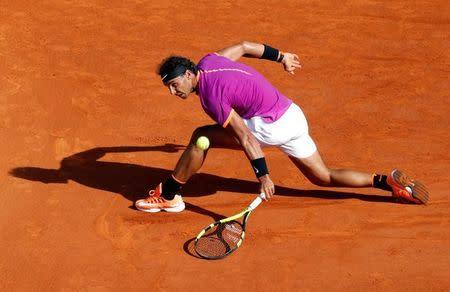 El tenista español Rafael Nadal en el Abierto de Montecarlo