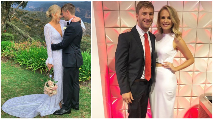 Kieren Jack marries Charlotte Goodlet - but there's no sign of his parents
