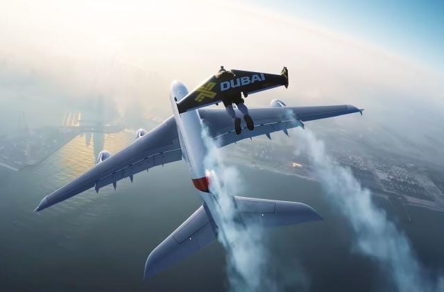 Watch jetpack pilot Vince Reffet set a new altitude record in Dubai