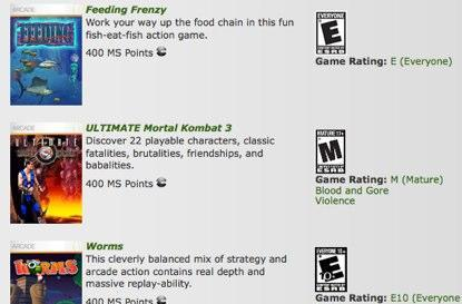 Worms, UMK3, Feeding Frenzy now on XBLA Hits page [update]