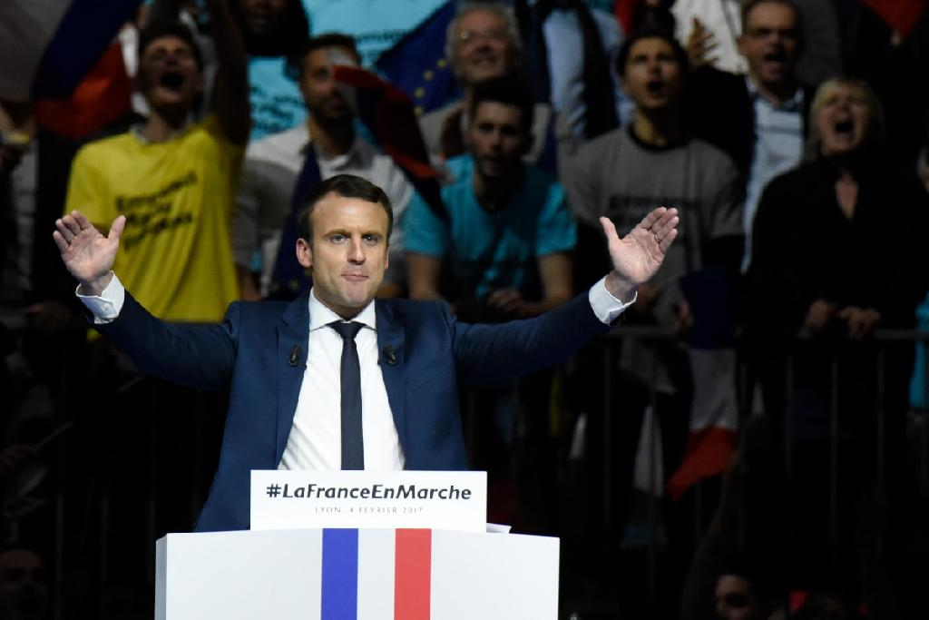 French presidential candidate Emmanuel Macron has laughed of rumours off a double life