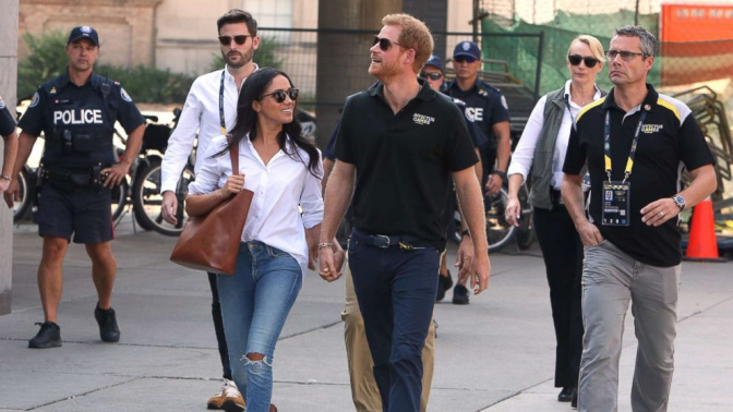 Prince Harry, Meghan Markle step out holding hands at Invictus Games