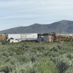 Train derails near Nevada-Utah line; no injuries reported