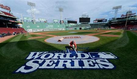 MLB: World Series-Boston Red Sox Workout