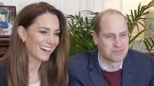 Fans Spot Never-Before-Seen Pic of Cambridge Kids in Background of William and Kate's Zoom