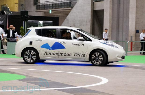 Nissan's autonomous Leaf shows its smarts on Japanese test track
