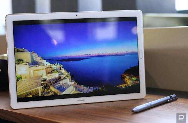 Huawei's MediaPad M5 is the first tablet with a curved glass screen
