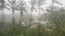 High Winds and Heavy Downpour From Cyclone Harold Damage Power Lines