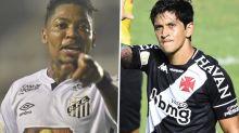 Marinho e Cano entregam o que se esperava em Santos x Vasco: gols