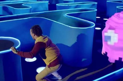 Real-life, giant Pac-Man maze stars in Super Bowl ad