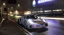 New Maserati sports car teased with camouflaged test mule