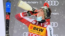 Austrian Manuel Feller takes slalom standings lead with first World Cup win