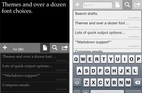 Daily iPhone App: Drafts lets you save short snippets of text